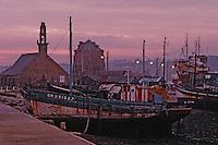 Europe/France/Bretagne/29/Finistère/Camaret: Chantier naval sur le port à l'aube