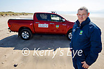 Neilus Cahill, Kerry County Council Enforcement Unit officer patrolling Inch beach on Saturday.