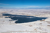 Winter aerial Lake Pueblo