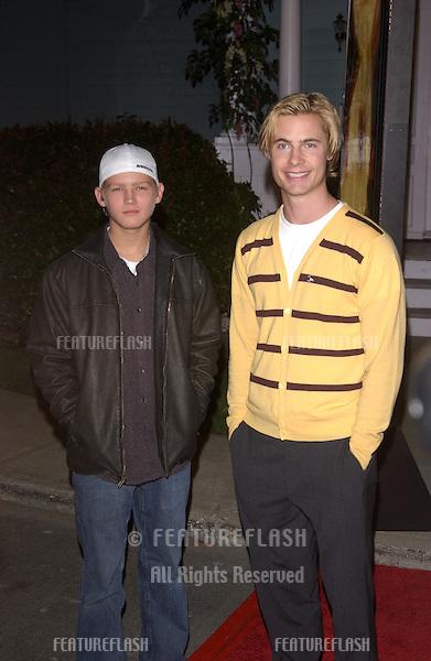 Jan 23, 2005; Los Angeles, CA: Actors EVAN ELLINGSON (left) & ERIK VON DETTEN at ABC TV's All Star Party on the Desperate Housewive lot at Universal Studios, Hollywood..