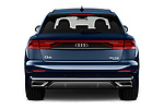 Straight rear view of a 2019 Audi Q8 S Line 5 Door SUV stock images