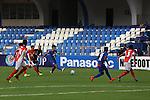 FW Sunil Chhetri (CHHETRI) (C) of JSW Bengaluru FC (India) taking a shot during match AFCCQF1 – AFC Cup 2016 Quarter Finals<br /> JSWBENGALURUFC(IND) – JSW Bengaluru FC (India)<br /> vs<br /> TAMPINESROVERS(SIN) – Tampines Rovers (Singapore)<br /> at Kanteerava Stadium, Bangalore, Karnataka on 14th Septembar 2016.<br /> Photo by Saikat Das/Lagardere Sports