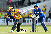 Alex Hales, Trent Rockets clears the wide long on boundary during London Spirit Men vs Trent Rockets Men, The Hundred Cricket at Lord's Cricket Ground on 29th July 2021