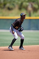 Pittsburgh Pirates Victor Ngoepe (61) during a Minor League Extended Spring Training game against the Philadelphia Phillies on May 3, 2018 at the Pirate City in Bradenton, Florida.  (Mike Janes/Four Seam Images)