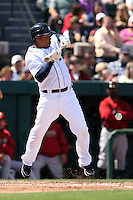 March 5, 2010:  Second Baseman Ramon Santiago of the Detroit Tigers during a Spring Training game at Joker Marchant Stadium in Lakeland, FL.  Photo By Mike Janes/Four Seam Images