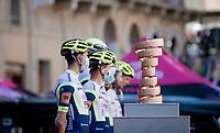 Il Trofeo Senza Fine at the race start in Siena<br /> <br /> 104th Giro d'Italia 2021 (2.UWT)<br /> Stage 12 from Siena to Bagno di Romagna (212km)<br /> <br /> ©kramon