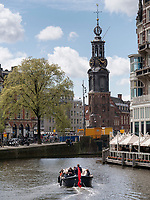 Amstel und Munttoren, Amsterdam, Provinz Nordholland, Niederlande<br /> Amstel and Munttoren, Amsterdam, Province North Holland, Netherlands