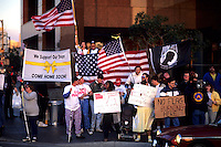 Rally to support military in  Mid East war with Iraq in Los Angeles Californi
