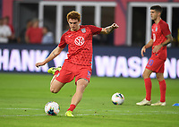 WASHINGTON, D.C. - OCTOBER 11: Josh Sargent #19 of the United States warms up prior to their Nations League match versus Cuba at Audi Field, on October 11, 2019 in Washington D.C.