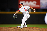 Pawtucket Red Sox pitcher Tony Pena Jr #31 during game three of a best of five playoff series against the Empire State Yankees at Frontier Field on September 7, 2012 in Rochester, New York.  Empire State defeated Pawtucket 4-3 to send the series to game four as Pawtucket leads two games to one.  (Mike Janes/Four Seam Images)
