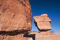 Balanced Rock Rock Formation, Garden of The Gods National Landmark, Colorado Springs, Colorado, USA, February 2006
