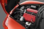 High angle engine detail of a 2011 Chevrolet Corvette Z06  .