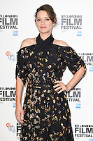 "Marion Cotillard<br /> at the London Film Festival 2016 premiere of ""It's Only the End of the World"" at the Odeon Leicester Square, London.<br /> <br /> <br /> ©Ash Knotek  D3180  14/10/2016"