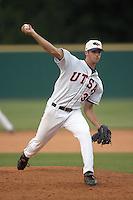 SAN ANTONIO, TX - MAY 18, 2007: The Texas State University Bobcats vs. The University of Texas at San Antonio Roadrunners Baseball at Roadrunner Field. (Photo by Jeff Huehn)