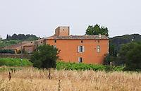 Prieure de St Jean de Bebian. Pezenas region. Languedoc. The villa. The main building. France. Europe.