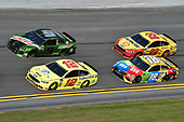 Monster Energy NASCAR Cup Series<br /> The Advance Auto Parts Clash<br /> Daytona International Speedway, Daytona Beach, FL USA<br /> Sunday 11 February 2018<br /> Chase Elliott, Hendrick Motorsports, NAPA Auto Parts Chevrolet Camaro, Ryan Blaney, Team Penske, Menards/Peak Ford Fusion, Kyle Busch, Joe Gibbs Racing, M&M's Toyota Camry, Joey Logano, Team Penske, Shell Pennzoil Ford Fusion<br /> World Copyright: John K Harrelson<br /> LAT Images