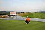 ISPS Handa Wales Open Golf final day at the Celtic Manor Resort in Newport, UK. :  Dutch golfer Joost Luiten celebrates winning the Wales Open Golf tournament on the 18th green.