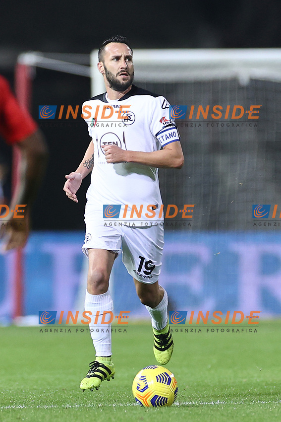 Claudio Terzi of Spezia Calcio<br /> during the Serie A football match between Benevento Calcio and Spezia Calcio at stadio Ciro Vigorito in Benevento (Italy), November 7th, 2020. <br /> Photo Cesare Purini / Insidefoto