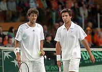 08-05-10, Tennis, Zoetermeer, Daviscup Nederland-Italie, Dubbles Robin Haase and Igor Sijsling