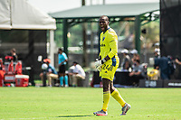 LAKE BUENA VISTA, FL - JULY 13: Bill Hamid #24 of DC United celebrates a goal during a game between D.C. United and Toronto FC at Wide World of Sports on July 13, 2020 in Lake Buena Vista, Florida.