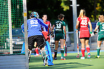 Mannheim, Germany, August 29: During the field hockey group match between RW Koeln and HTC Uhlenhorst Muelheim on August 29, 2014 during the NH Hotels Cup 2014 at Mannheimer Hockey Club in Mannheim, Germany. (Photo by Dirk Markgraf / www.265-images.com) *** Local caption ***
