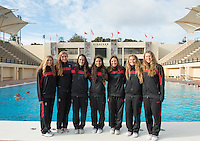 Stanford, Ca - Friday, January 11, 2013: Women's Waterpolo Team Photo.