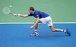 September  12, 2021:  Daniil Medvedev (RUS) defeated Novak Djokovic (SRB) 6-4, 6-4, 6-4, at the US Open being played at Billie Jean King National Tennis Center in Flushing, Queens, New York / USA  ©Jo Becktold/Tennisclix/CSM/CSM