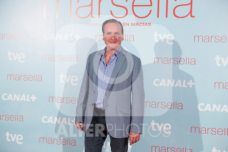 Fernando Cayo poses at `Marsella´ film premiere photocall at Capital cinema in Madrid, Spain. July 17, 2014. (ALTERPHOTOS/Victor Blanco)