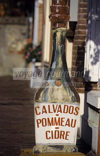Europe/France/Normandie/Basse-Normandie/14/Calvados/Beuvron-sur-Auge: Détail d'une enseigne