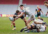 20th February 2021; Twickenham Stoop, London, England; English Premiership Rugby, Harlequins versus Sale Sharks; Raffi Quirke of Sale Sharks throwing the ball