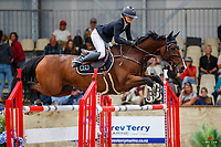 NZL-Courtney Townsend rides Corofina ECPH. Class 22: Sky Sort Next Horse 1.30m Ranking Class. 2021 NZL-Easter Jumping Festival presented by McIntosh Global Equestrian and Equestrian Entries. NEC Taupo. Saturday 3 April. Copyright Photo: Libby Law Photography
