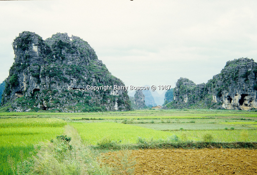 Guilin, China landscape showing the limestone mountains