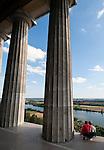 Germany, Bavaria, Upper Palatinate, Donaustauf: view from Walhalla into Danube Valley
