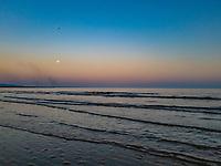 2020 05 07 Moon rising at Swansea Bay, Wales, UK