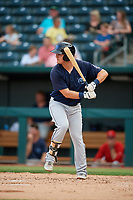 Mobile BayBears Brendon Sanger (4) at bat during a Southern League game against the Jacksonville Jumbo Shrimp on May 28, 2019 at Baseball Grounds of Jacksonville in Jacksonville, Florida.  Mobile defeated Jacksonville 2-1.  (Mike Janes/Four Seam Images)