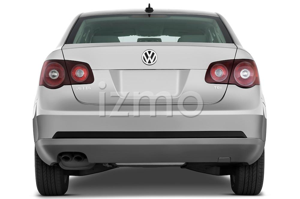 Straight rear view of a 2009 Volkswagen Jetta TDI