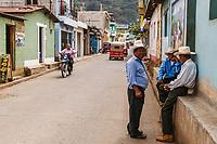 south America, Guatemala. San Juan La laguna, Maya old men