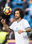 Marcelo Vieira Da Silva of Real Madrid in training prior to the La Liga 2016-17 match between Real Madrid and Malaga CF at the Estadio Santiago Bernabéu on 21 January 2017 in Madrid, Spain. Photo by Diego Gonzalez Souto / Power Sport Images
