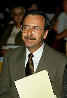 Montreal (QC) CANADA - File Photo - undated -<br /> Andre Boulerice, Parti Quebecois MNA for Sainte-Marie-Saint-Jacques in Montreal.<br /> <br /> <br /> AndrÈ Boulerice (born May 8, 1946 in Joliette, Quebec) is a QuÈbÈcois politician and gay rights activist. He was a member of the National Assembly of Quebec for the riding of Sainte-MarieóSaint-Jacques in Montreal.<br /> <br /> Born in Joliette, he graduated in specialized education from CÈgep du Vieux MontrÈal. He joined the Parti QuÈbÈcois in 1970 and later worked for the Chambly school board.<br /> <br /> He was elected in the Sainte-MarieóSaint-Jacques riding in 1989, formerly under Claude Charron. Boulerice was reelected in 1994, 1998 and 2003. He was also the assistant leader in the government, president of the Quebec division of the AssemblÈe parlementaire de la Francophonie and Quebec immigration minister. He helped introduce civil union for same-sex couples. Boulerice resigned in September 2005.