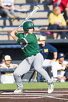 Eastern Michigan Hurons catcher Alex Wolanski (39) ACTION against the Michigan Wolverines on May 3, 2016 at Ray Fisher Stadium in Ann Arbor, Michigan. Michigan defeated Eastern Michigan 12-4. (Andrew Woolley/Four Seam Images)