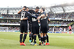 Real Madrid's players celebrate goal during La Liga match. August 21,2016. (ALTERPHOTOS/Acero)