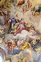 Barocke Bemalung der Kuppel der Karlskirche gemalt von Michael Rottmayer 1724-1729, Wien, Österreich, UNESCO-Weltkulturerbe<br /> Baroque Mural of the dome of Charles church painted by Michael Rottmayer 1724-1729 , Vienna, Austria, world heritage