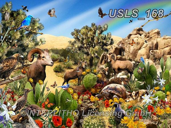 Lori, LANDSCAPES, LANDSCHAFTEN, PAISAJES, paintings+++++Desert Denizens,USLS168,#l#, EVERYDAY ,puzzle,puzzles