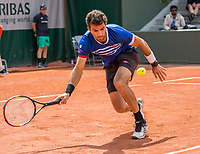 Paris, France, 4 June, 2017, Tennis, French Open, Roland Garros, Mixed doubles: Jean-Julen Rojer (NED)<br /> Photo: Henk Koster/tennisimages.com