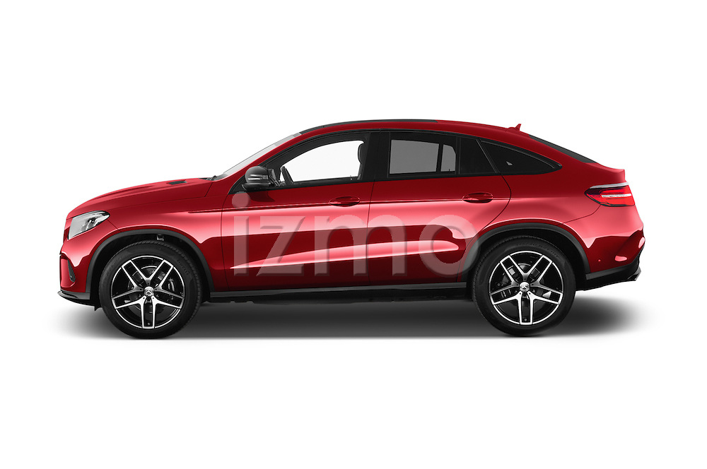 Car Driver side profile view of a 2016 Mercedes Benz GLE-Coupe - 5 Door Suv Side View