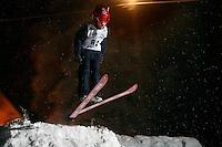 Johan Nicolay Troye (10) ski jumping in Schrøderbakken, near the center of Oslo.