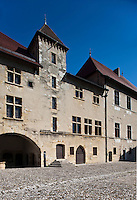Europe/France/Rhône-Alpes/74/Haute-Savoie/Annecy:le Château- la Cour d'honneur et le Vieux Logis