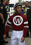 7 February 2009:  Jockey Shaun Bridgmahon on Risen Star Stakes Day at the Fair Grounds Race Course in New Orleans, Louisiana.