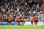 St Johnstone v Dundee United…22.08.21  McDiarmid Park    SPFL<br />The Dundee United players applaud their fans at full time<br />Picture by Graeme Hart.<br />Copyright Perthshire Picture Agency<br />Tel: 01738 623350  Mobile: 07990 594431