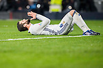 Nacho Fernandez of Real Madrid reacts during their La Liga match between Real Madrid and Real Sociedad at the Santiago Bernabeu Stadium on 29 January 2017 in Madrid, Spain. Photo by Diego Gonzalez Souto / Power Sport Images